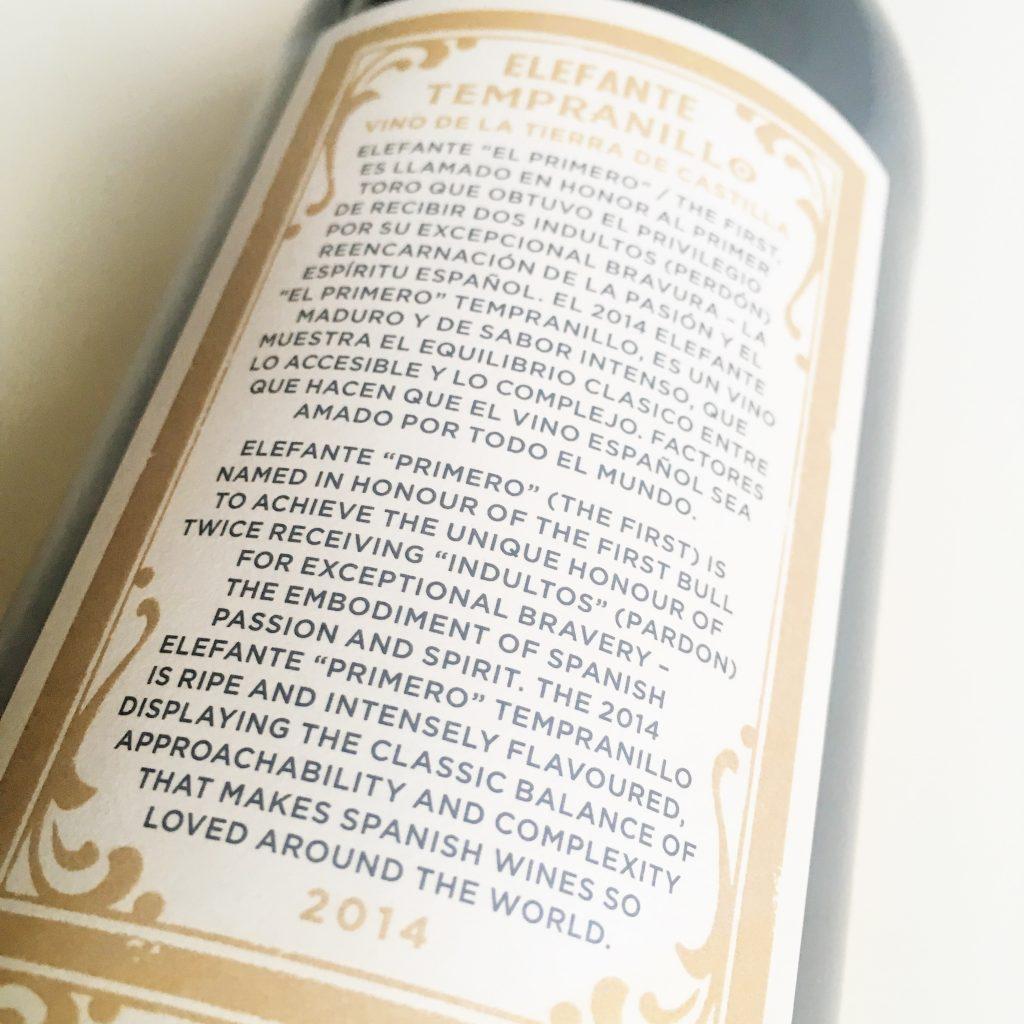 Spanish Wine: CASTILLA TEMPRANILLO - ELEFANTE PRIMERO.