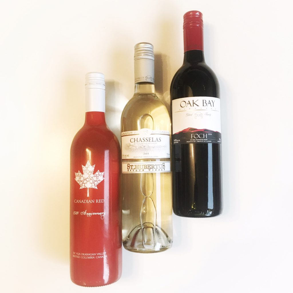 St. Hubertus Canadian Red, Chasselas & Oak Bay Foch