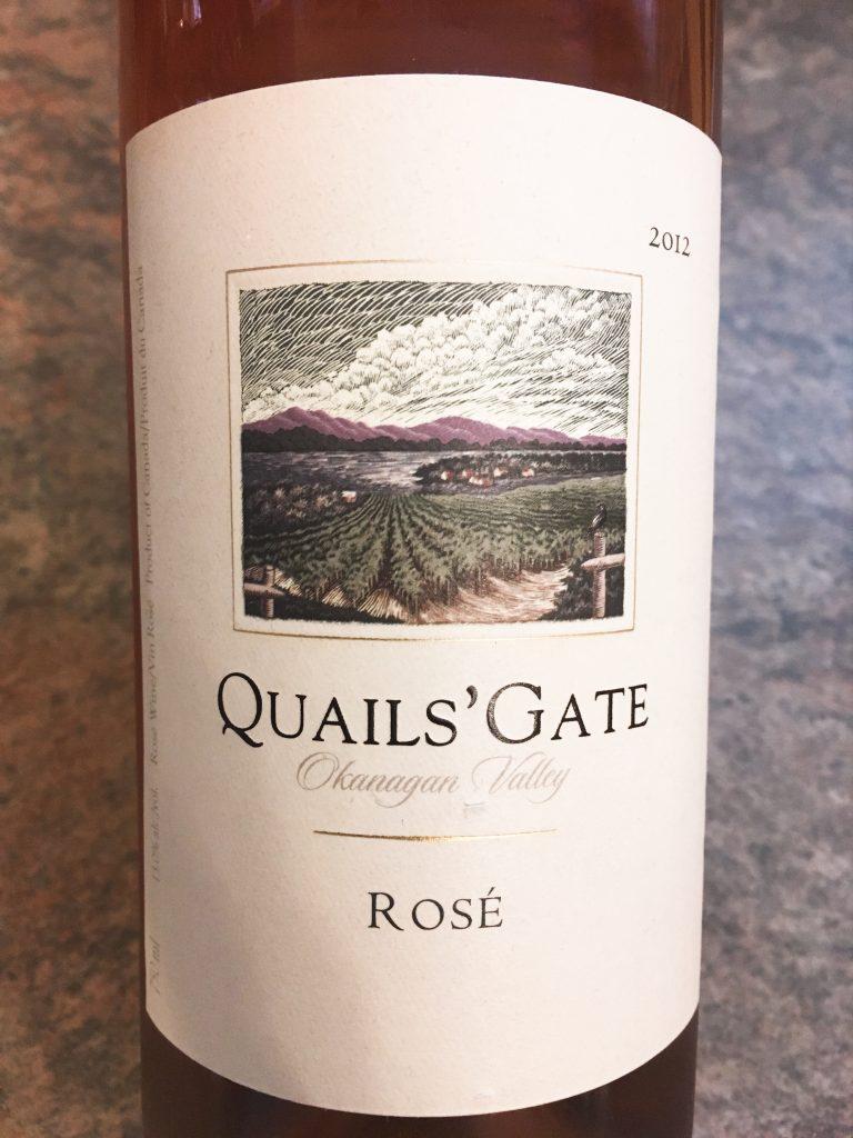 Quail's Gate Rosé bottle