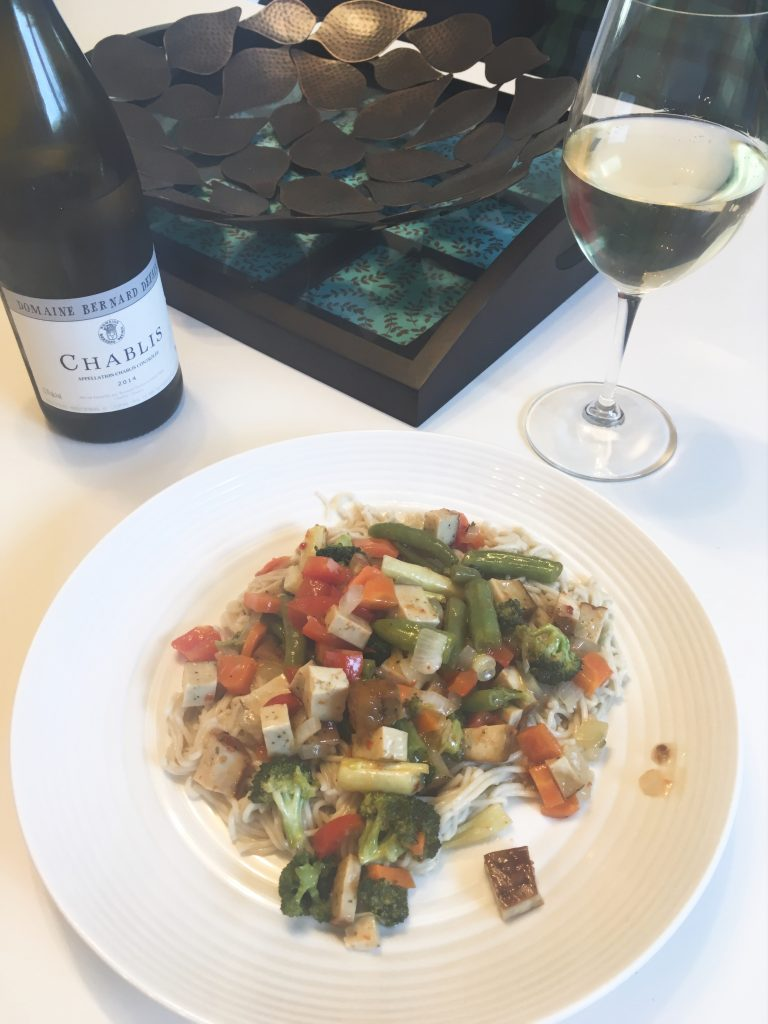 Bernard Defaix Chablis & Tofu Stir Fry