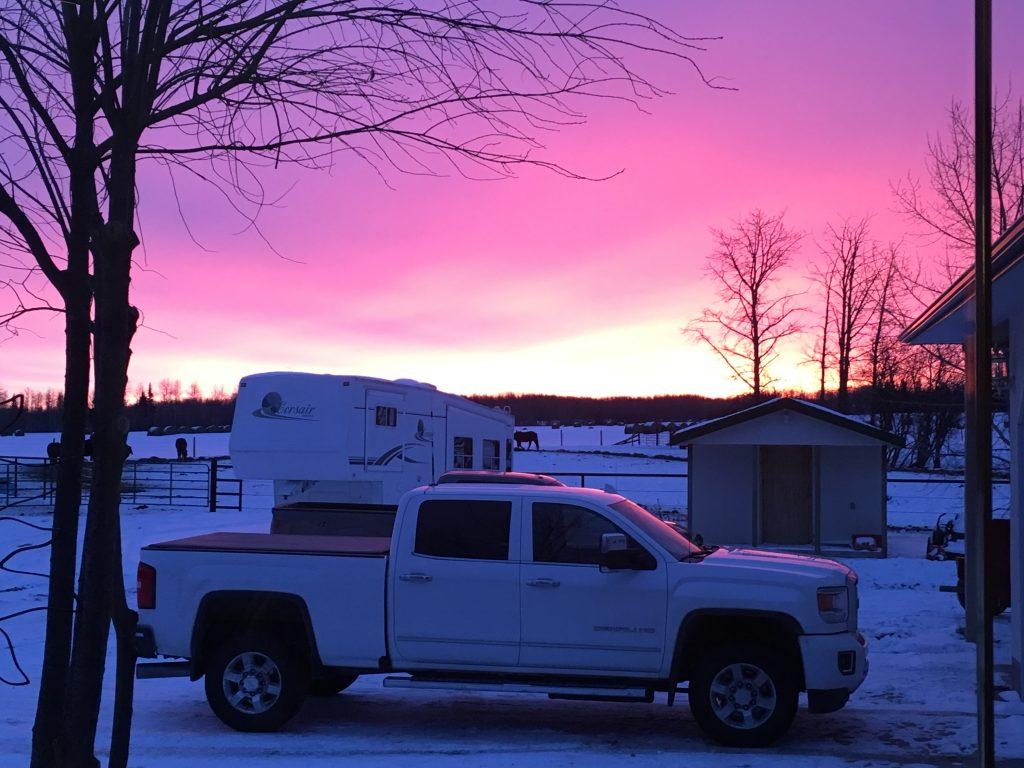 A beautiful sunrise in small town Alberta.